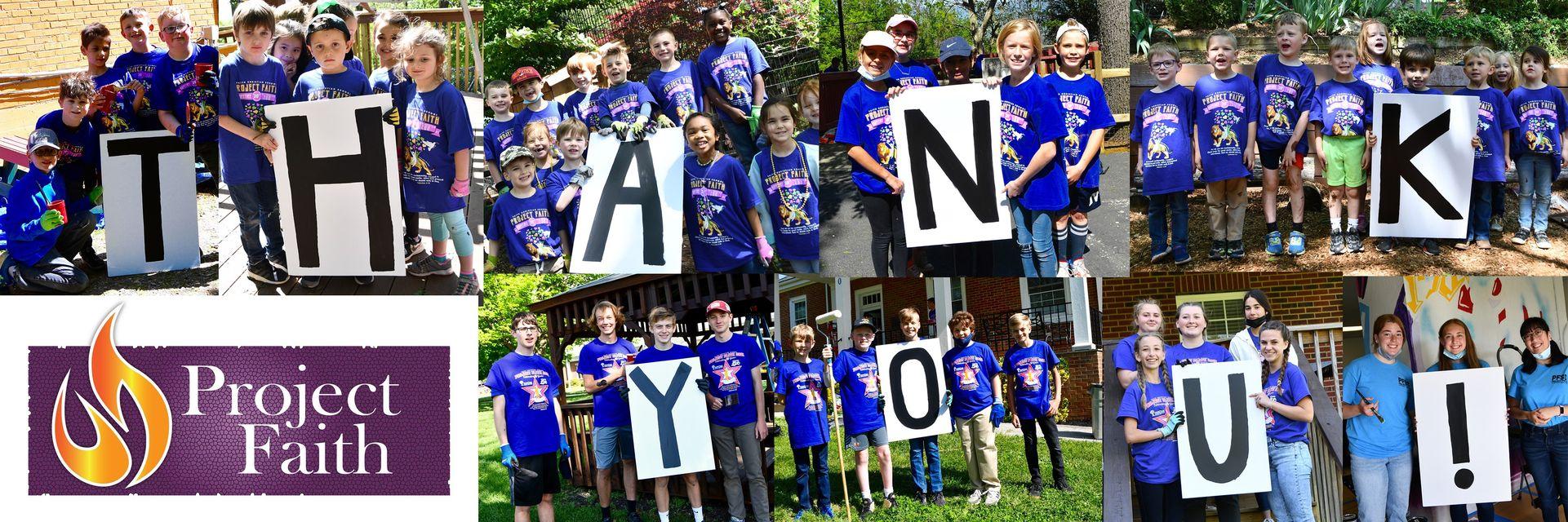 Faith Christian School Project Faith Thank You