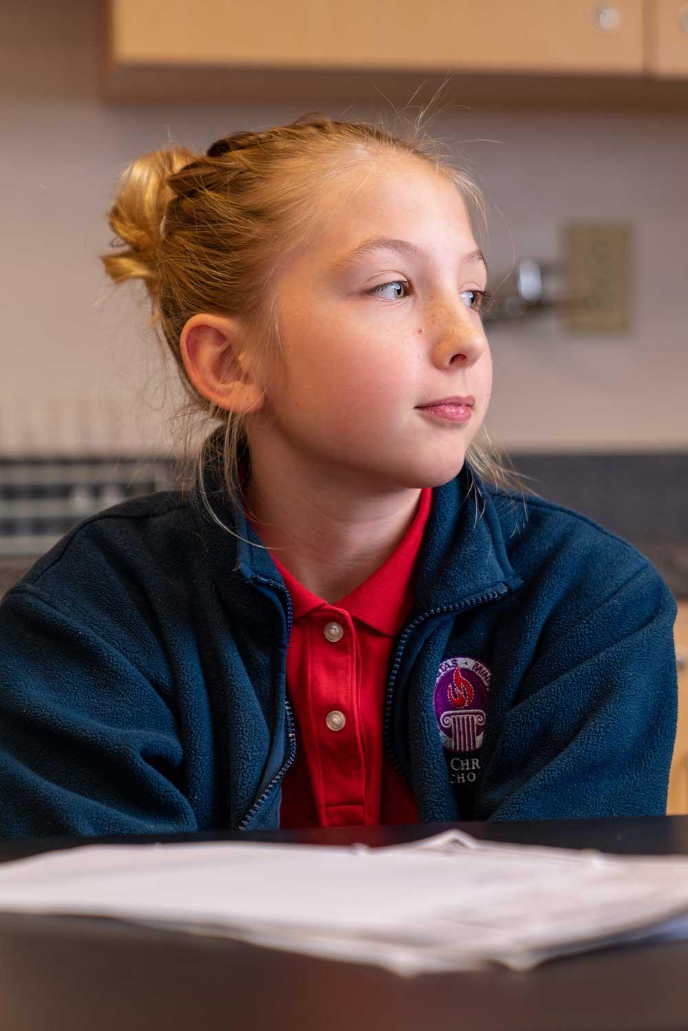 Faith Christian School Middle School Student